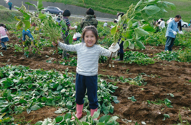 君津市農業委員会長賞 「枝まめとれたよ」  千葉市 小島久美子