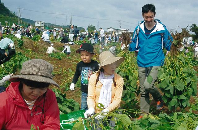 君津市認定農業者協議会長賞 「賑わう収穫祭」  君津市 岡田志郎